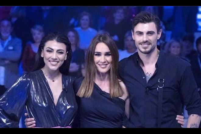 Giulia Salemi, Silvia Toffanin e Francesco Monte. Frame da video
