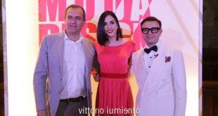 Luigi De Magistris, Rocio Munoz Morales e Maurizio Martiniello alla serata di gala