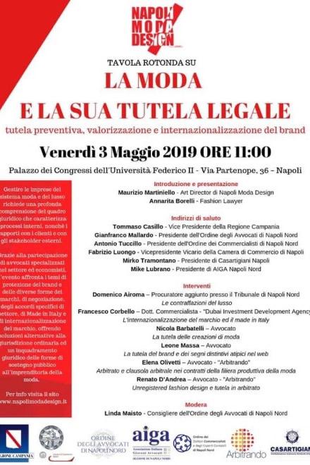 Bando Tutela Legale per Napoli Moda Design