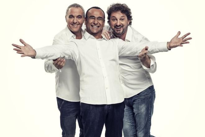 Giorgio Panariello, Carlo Conti e Leonardo Pieraccioni. Foto da Ufficio Stampa