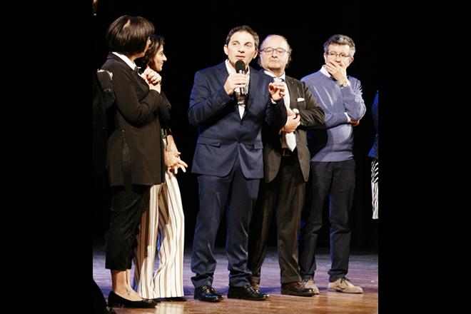 L'autore Pasquale Mele, Dottor Massimo Zeccolini, Dottor Alberto Garaventa. Foto di Giancarlo Cantone.