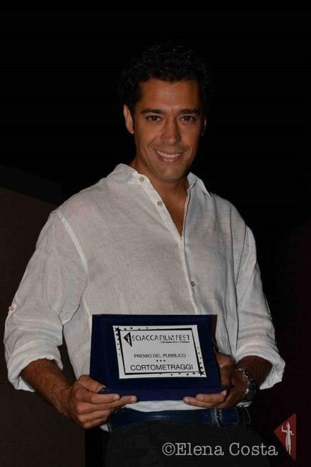 Manfredi Russo premiato allo Sciacca Film Festival. Foto di Elena Costa