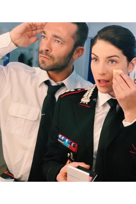 Maria Chiara Giannetta e Francesco Castiglione per Don Matteo (foto concessa dagli attori)