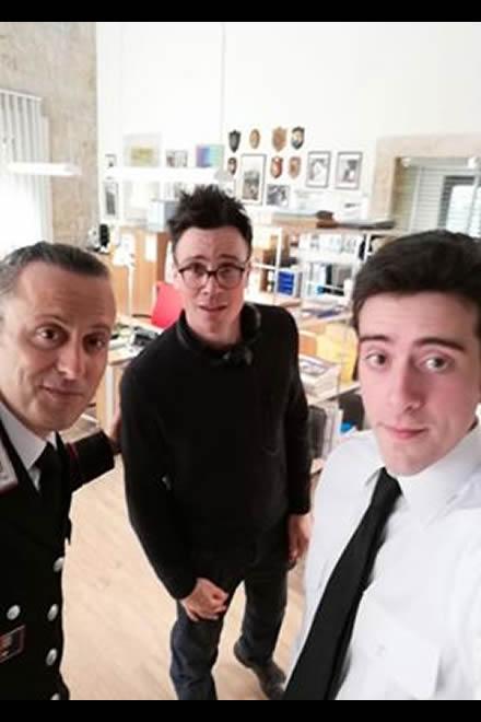 Nella foto Pietro Pulcini, il regista Raffaele Androsiglio e Domenico Pinelli
