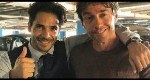 Alessio Boni e Marco Bocci sul set di Calibro 9. Foto dal Web