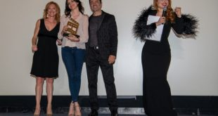 Ilenia Pastorelli sul palco ad Ostia International Film Festival 2019. Foto di Stefano Simoni