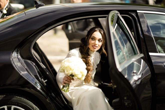 Lorella Boccia in abito da sposa