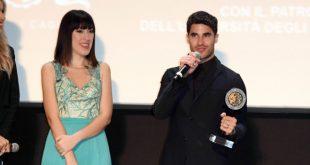 Naomi Rivieccio e Darren Criss al Filming Italy Sardegna Festival. Foto da Ufficio Stampa