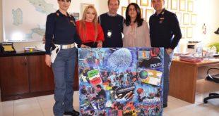 Natali Ferrary, un'opera per gli operatori dell'immigrazione della Questura di Napoli