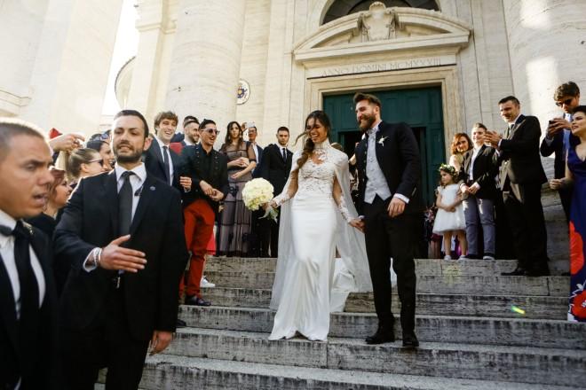 Niccolò Presta e Lorella Boccia dopo il si