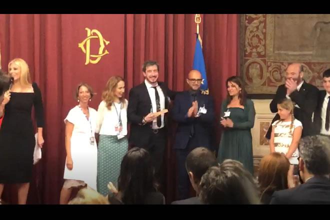 Paolo Ruffini ritira il Premio Moige a Montecitorio