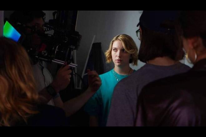 Veronica Maccari sul set