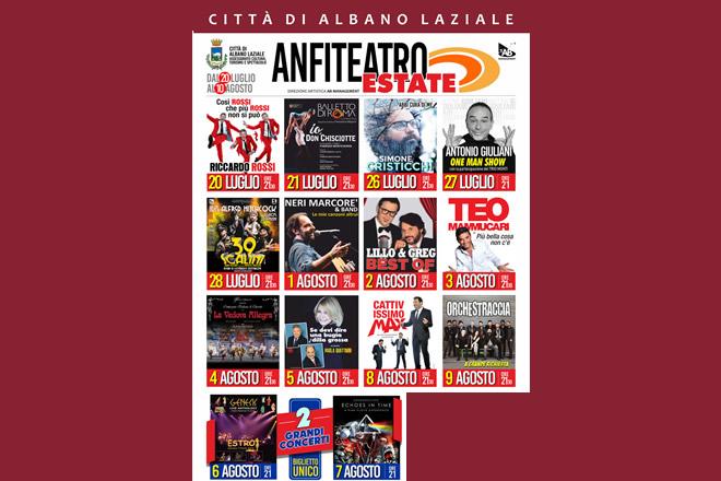 Anfiteatro Estate 2019 ad Albano Laziale