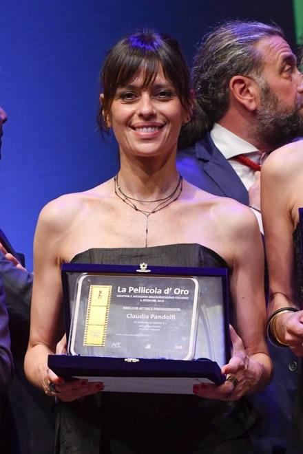 Claudia Pandolfi con La pellicola d'oro 2019