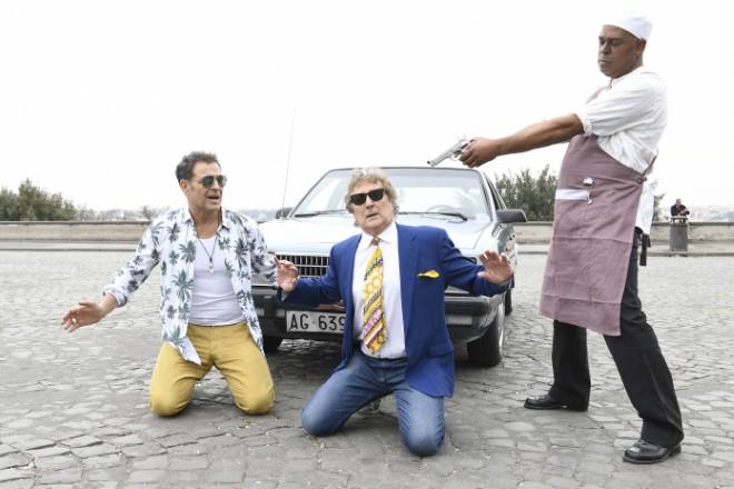 Enzo Iacchetti e Pino Quartullo per Hollywood Burger