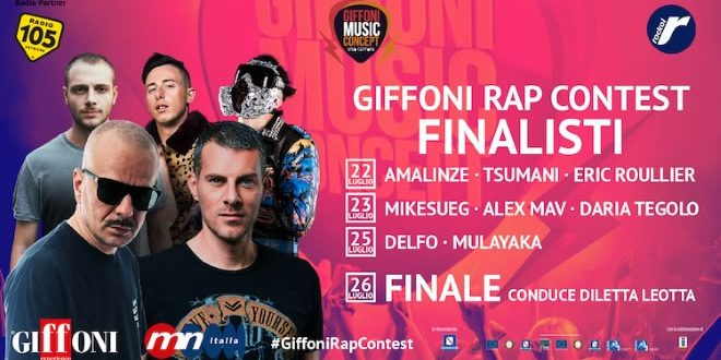 Giffoni Rap Contest 2019, i finalisti