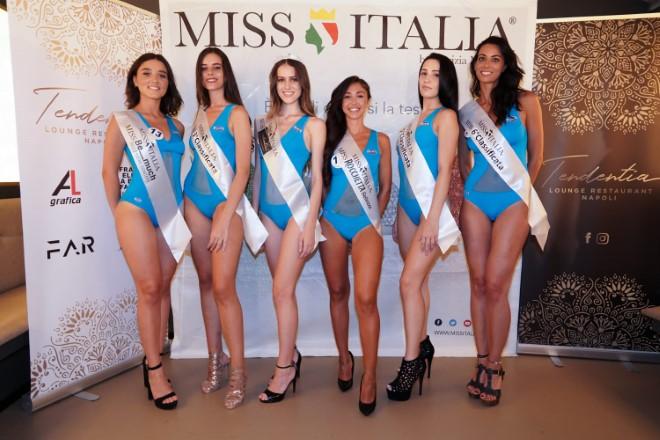 Le 5 selezionate per Miss Italia 2019 nella tappa di Napoli