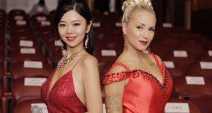 Le presentatrici dell'evento, Amelie Wen modella e Daisy Ciotti performer internazionale