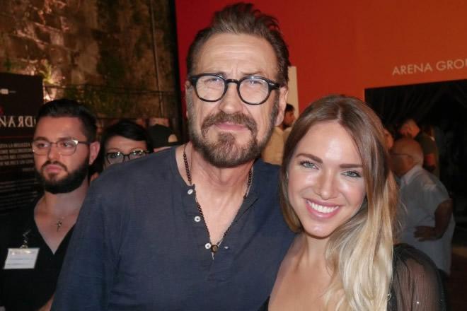 Marco Giallini e Carolina Rey per L'Isola del Cinema 2019