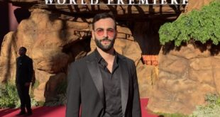 Marco Mengoni alla premiere di The Lion King a Los Angeles. Foto da Ufficio Stampa