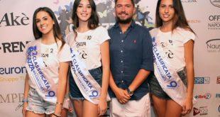 Stefano Piacenti con le vincitrici della tappa Ragazza We Can dance sulla MSC Fantasia