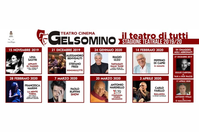 Teatro Gelsomino, stagione teatrale 2019-20