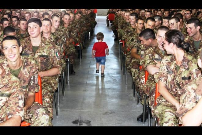 Un bambino talassemico tra i Volontari dell'Esercito Italiano per Acqui