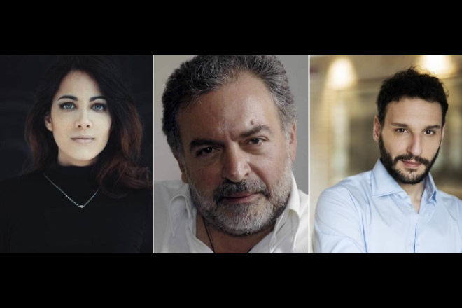 Luciano Giugliano, Gianni Parisi e Gina Amarante