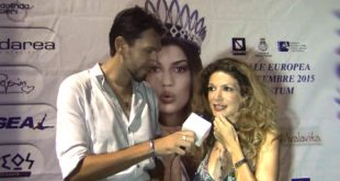 Francesco Russo intervista Maria Monse a Miss Europe Continental 2015