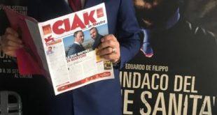 Massimiliano Gallo legge Ciak a Venezia76. Foto da Facebook