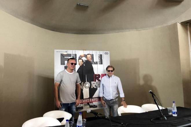 Nino D'Angelo e Gigi D'Alessio in conferenza stampa