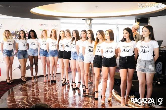 Ragazza We Can Dance, le concorrenti sulla MSC Bellissima
