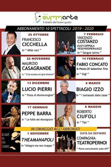 Teatro Summarte, stagione teatrale 2019-20