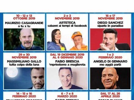 Teatro Troisi, stagione teatrale 2019/20