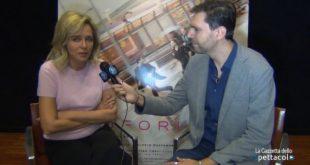 Valeria Golino durante un'intervista per La Gazzetta dello Spettacolo con Francesco Russo