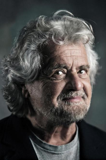 Beppe Grillo. Foto di Loris T. Zambelli per Photomovie