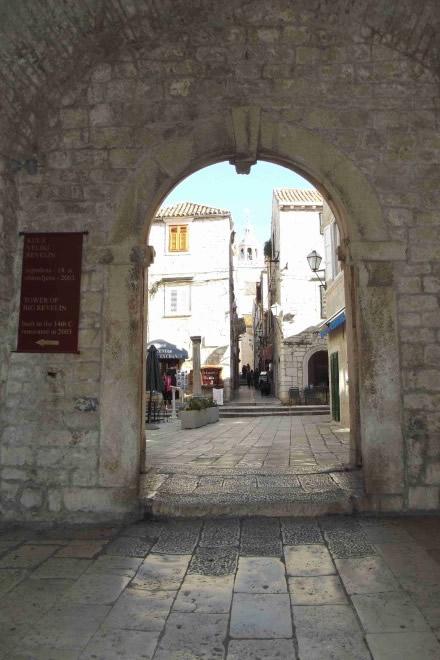 Korcula la porta di accesso al centro storico