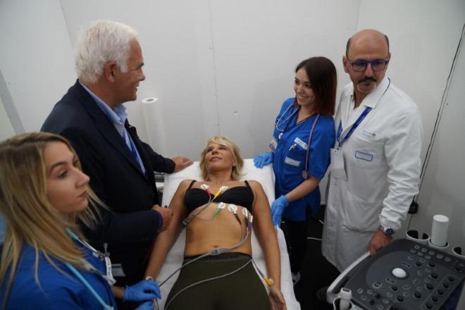 Maria De Filippi effettua il check-up a Tennis e Friends 2019. Foto da Ufficio Stampa