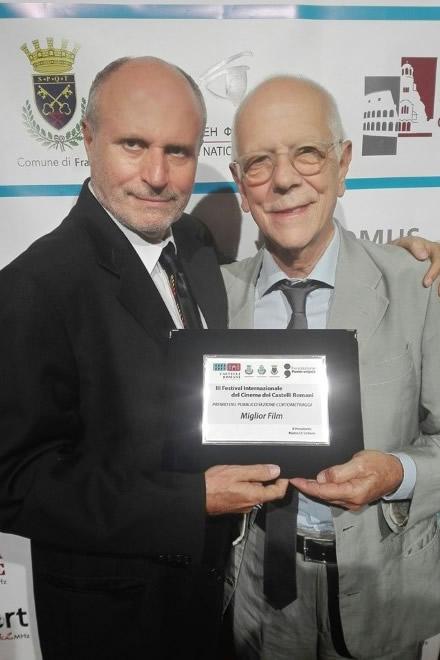 Pierfrancesco Campanella con Angelo Bassi al Castelli Romani Film Festival