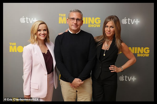 Jennifer Aniston per The Morning Show. Foto di Eric Charbonneau per REX. Fonte foto web