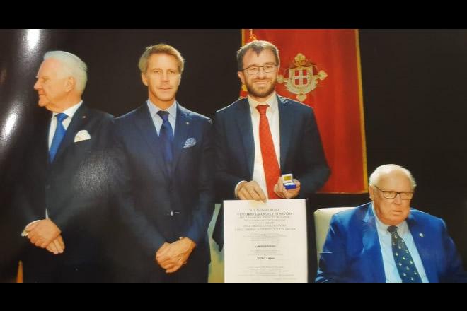 Mirko Cuneo a Nizza nominato Commendatore