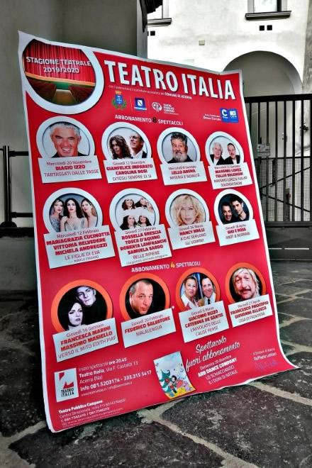 Teatro Italia di Acerra, stagione teatrale 2019-20