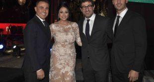 Fabio Cannavaro, Maria Mazza, Ciro Ferrara, Paolo Cannavaro al Galà Charity Night 2018. Foto di F. Ionà