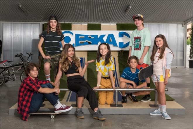 Il cast di Skatenat! Noa
