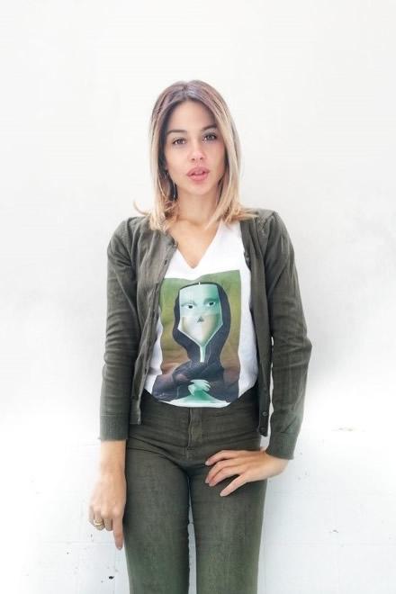 L'artista e influencer Petra Scognamiglio a Taurasi per il MAVV. Foto da Facebook