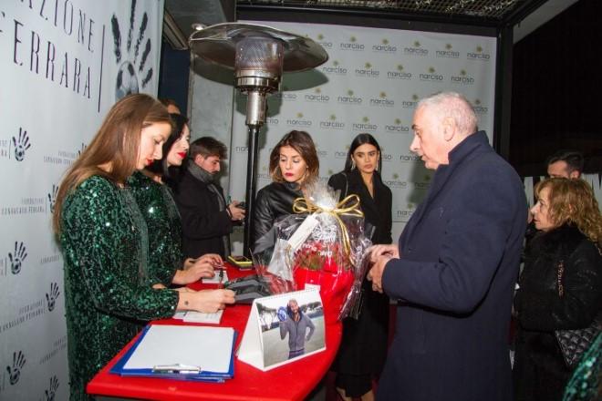 Lo spazio di raccolta fondi per la Fondazione Cannavaro Ferrara