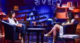Aida Yespica e Lorella Boccia negli studi di Rivelo. Foto GRM