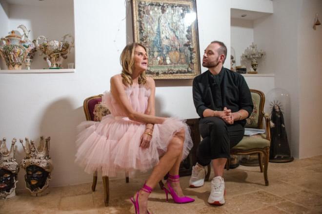 Anna Dello Russo durante l'intervista a Fashion in Star. Foto di Vito Luisi