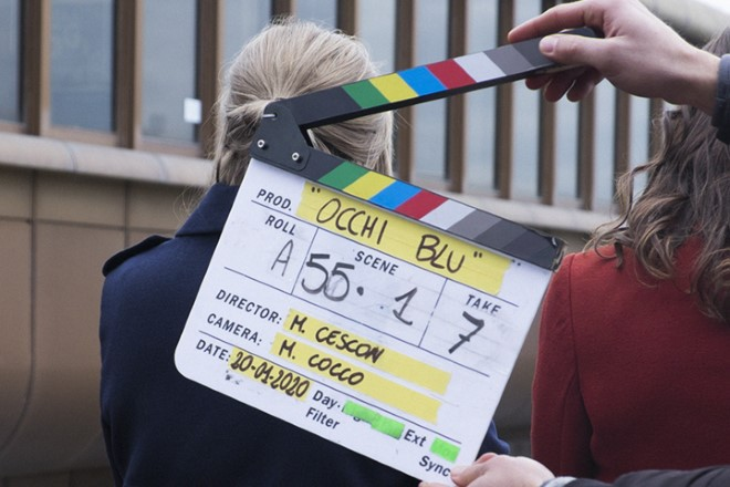Ciak per Occhi Blu di Michela Cescon