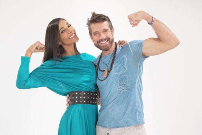 Juliana Moreira ed Edoardo Stoppa per Feel Good. Foto GreenMediaLab